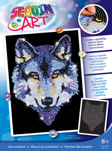Sequin Art 1215 Wolf Craft Set From The Blue Range