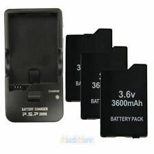 3 Packs 3.6V 3600mAh Battery Pack + Wall Charger for Sony PSP 2000 2001 Slim US