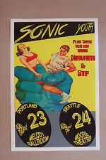 Sonic Youth Concert Tour Poster1990 Portland & Seattle W/ Nirvana & STP