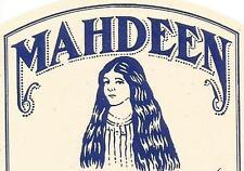 Label-MAHDEEN Co,Nacogdoches,TX.Dandruff.original US 1940-50s shampoo=melaneybuy