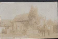 Unknown County Postcard - Two Men With Horse Outside Detached House  MB1897