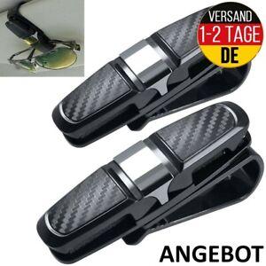 FineGood 2er Set Brillenhalter Auto Sonnenblende Sonnenbrillen Kreditkarten Clip