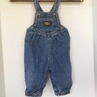 Vtg Oshkosh Vestbak Overalls Bubble Pant 1980s Baby Bgosh 3-6 mo Denim Snaps USA