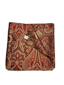 Classic Home Luxury Fabric Shower Curtain Red Paisley Print Gorgeous! High End