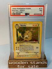 PSA 7 NM Raichu 14/62 1st Edition Holo Rare Fossil Set Pokemon Trading Card