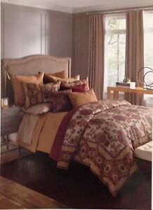 $430 Bloomingdale's 1872 Bukhara 500TC King Comforter Duvet Cover