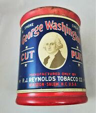 Vintage GEORGE WASHINGTON Tin Litho Canister Tobacco Tin
