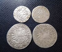 POLAND  / 4 x MEDIEVAL SILVER COINS LOT 6.