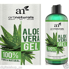 ArtNatuals Aloe Vera Gel for Face Hair & Body Certified 100% Organic Pure 12 OZ