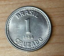BRAZIL 8 COINS SET 1986-1988 STARS UNC #1455