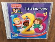 Fisher Price Little People 1 2 3 Sing Along Music CD Educational CRACKED CASE