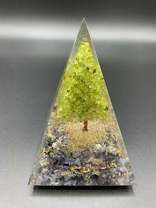 Orgonit Pyramide Baum des Lebens Bergkristall Amethyst XL 635