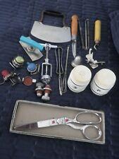 13 Vintage Kitchen Utensil & Tool Lot: Wiss Scissors, Bottle Cap Lids,Openers...