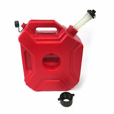 5L Portable Jerry Can Gas Diesel Fuel Tank Pack w/ Lock ATV Motorcycle Scooter