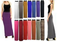 Womens Ladies Printed Long Jersey Bodycon Elasticated Waist New Gypsy Maxi Skirt