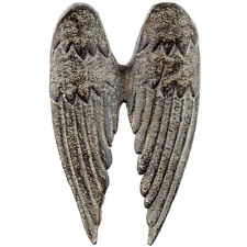 NEW ANGEL THEME DECORATIVE WINGS DISTRESSED CAST IRON WALL INDOORS OUTDOORS