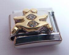GEMINI Italian Charm - CLEAR GEMS Crystals Horoscope Zodiac Symbol 9mm Classic