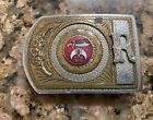 Vintage 1970s SHRINERS Monogram Initials R Custom Silver Plated Belt Buckle Rare