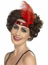 Smiffys Flapper Feather Costume Cloches