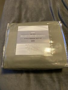 Cool Egyptian Cotton Feel Bed Sheets 4 Piece Set