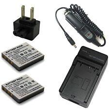 Charger + 2x Battery Pack for Vivitar ViviCam 7399 7500 7500i 8010 8320 DVR-560G