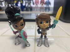 Nickelodeon Nella The Princess Knight Sir Garrett & Nella 3.5'' Figures.