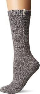Women's Socks UGG RIB KNIT Slouchy Crew Socks 1014832 NIGHTFALL