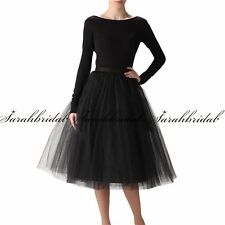 Women Girls 5 layer Tutu Skirt Tulle Skirts Adult Tutu Prom Ball A-line Gown M L