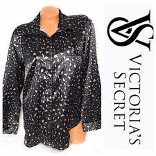Victoria Secret Afterhours Animal Print Pajama Sleep Shirt Button Up Top Size L