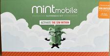 Mint Mobile Prepaid Sim Card Unlimited Talk & Text & Data 3 Month Plan(Upto 35G)