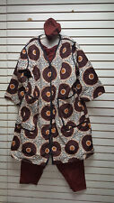African/Clothes/Clothing/Coat/Pantset Heavy Dashiki Unisex  MULTICOLOR-C16