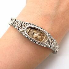 "925 Sterling Silver Vintage Textured Design Women's Watch Bracelet 6 1/4"""