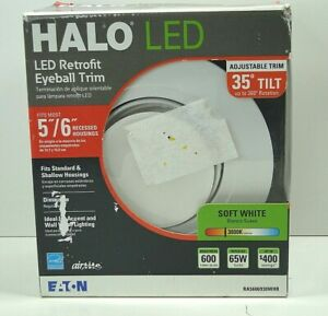 """Halo Recessed Lighting RA5606930WHR 5""""- 6"""" White LED Adjustable Free shipping"""