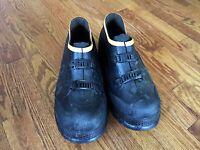 LaCrosse Work Shoes Black Rubber Overshoes 2 Buckle Shoes Sz 7