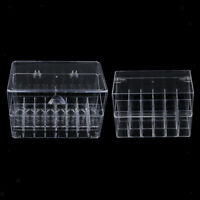 Pack of 2 Acrylic Clear Lipstick Organiser with Lid Storage Makeup Make up Box