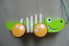 Hape  Krokodil Croc Holz Nachziehtier Holzspielzeug #NEU#