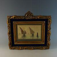"""French School Watercolor Title """"Sur La Lagune -Venise"""" Signed"""