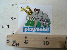STICKER,DECAL PLAYMOBIL OLIFANT,GIRAF,ZEBRA, ELEPHANT PLAYMOBIL TOY SPEELGOED A