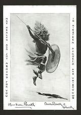 More details for 1931 - boy scout christmas card - baden powell - zulu warrior
