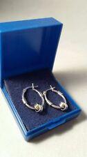 Fine Silver Leverback Hoop Earrings