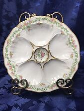 Very Rare Antique Wright Tyndale & Van Roden Limoges Oyster Plate