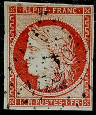 Bientôt NOËL -    N°6 Y&T 1 FR CARMIN  CERES1849
