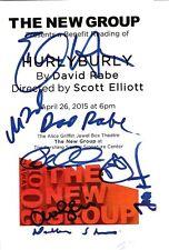 Hurly Burly Signed Cast Sheet Playbill Photo w/ David Rabe Amanda Seyfried + 6
