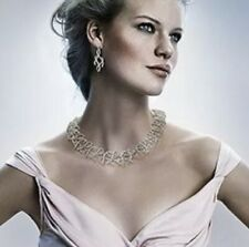 Genuine Authentic Swarovski Collar. Wedding Necklace. bridal Set With Earrings.