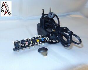 Universal Netzteil 3V 4.5V 5V 6V 7.5V 9V 12V 12W 500mA 1000mA 1A AC/DC 6 Stecker