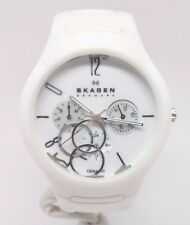 SKAGEN CERAMIC Ladies Watch 817SXWC1 MOP SUBDIALS Pearly WHITE READ DESCRIPTION!