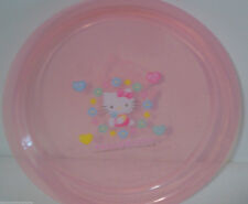 """Plate Hello Kitty and Friends Kids Sanrio 7""""  Light Pink Hearts Flower Animals"""