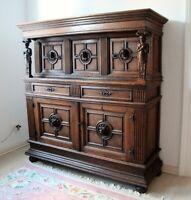 **Kölner Überbauschrank** antik 1600 Renaissance Stollenschrank Kabinettschrank