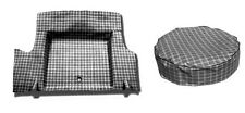 NEW! 1965-1966 Mustang Trunk Mat PLAID Pattern  Fastback Tire Cover Set