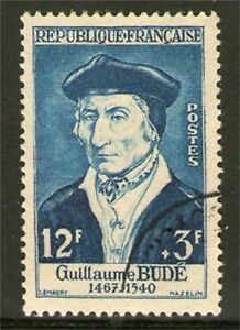 TIMBRE N° 1066 OBLITERE TTB - GUILLAUME BUDE - HUMANISTE